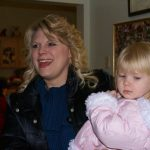 Mother and daughter visiting Ledgeview Assisted Living