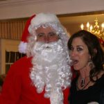Man dressed as Santa at a Christmas Party at Ledgeview Assisted Living